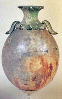 Ostrich egg drinking vessel