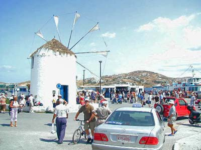 Windmill at the Port of Paros